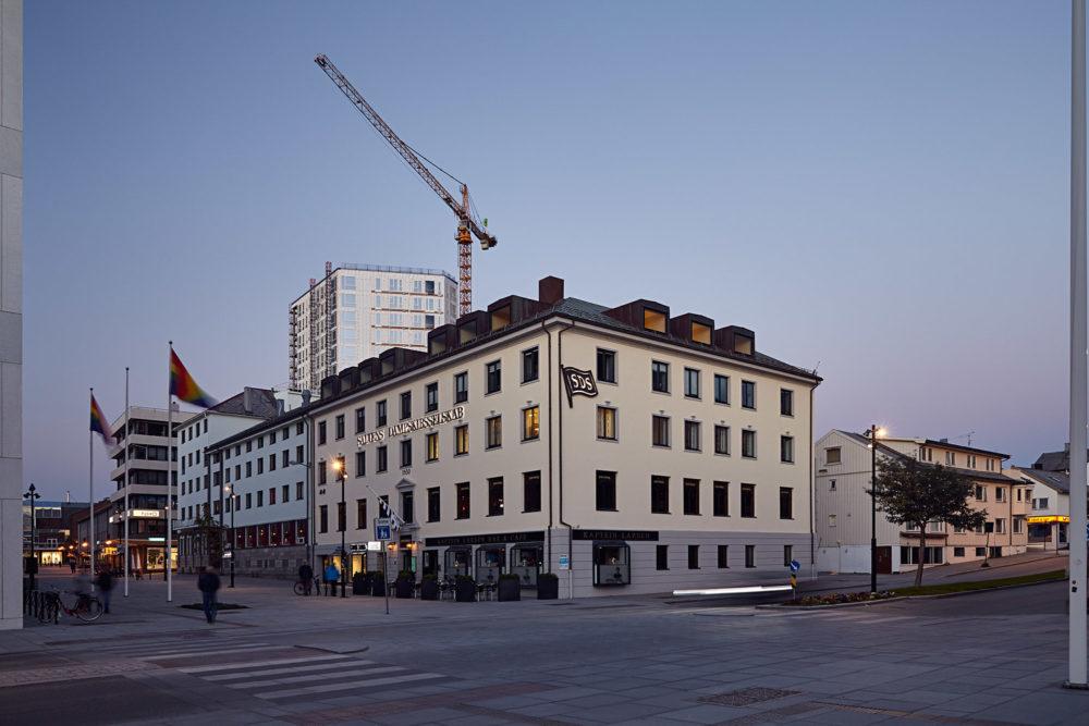 Fasaderenovering, Salten Dampskibselskap, Bodø